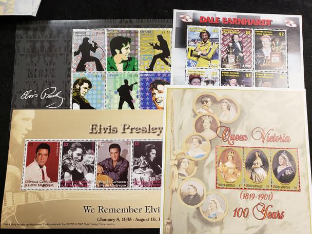 GRENADA GRENADINES Sheet Lot Kennedy,Elvis,Royalty,Space LAST ONES