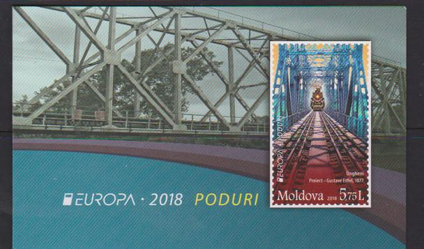 MOLDOVA- EUROPA 2018 TRAIN BRIDGES BOOKLET