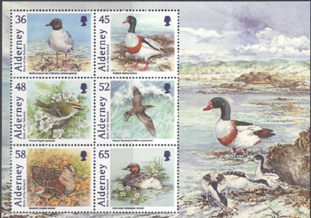 Birds- Sheet of 6