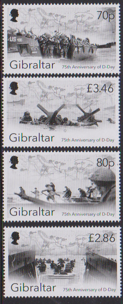 GIBRALTAR (2019)- 75TH ANNIVERSARY OF WWII D-DAY (4V)