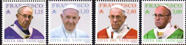 VATICAN CITY (2019)- PONTIFICATE OF POPE FRANCIS (4v)