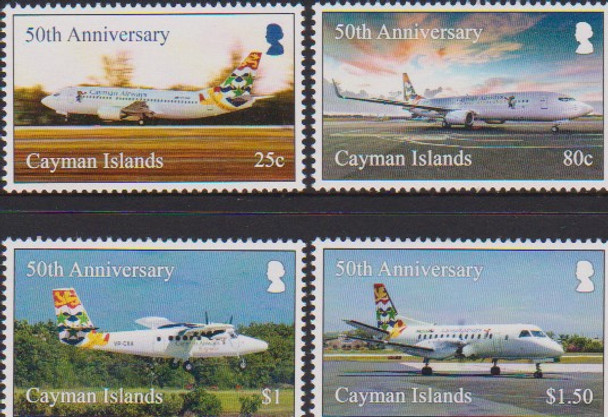 CAYMAN ISLANDS (2018)- AIRCRAFT (4v)