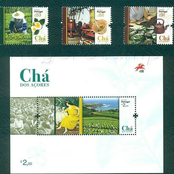 PORTUGAL (2019)- Tea from the Azores (3v & souvenir sheet)