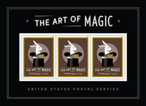 US (2018)- Art of Magic 3v Souvenir Sheet- Moving Holograms!