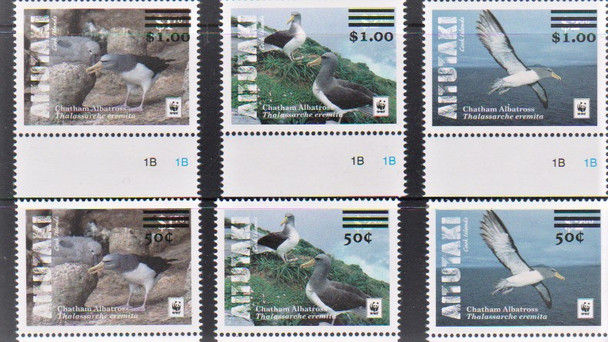 AITUTAKI (2019) WWF Birds (6v)