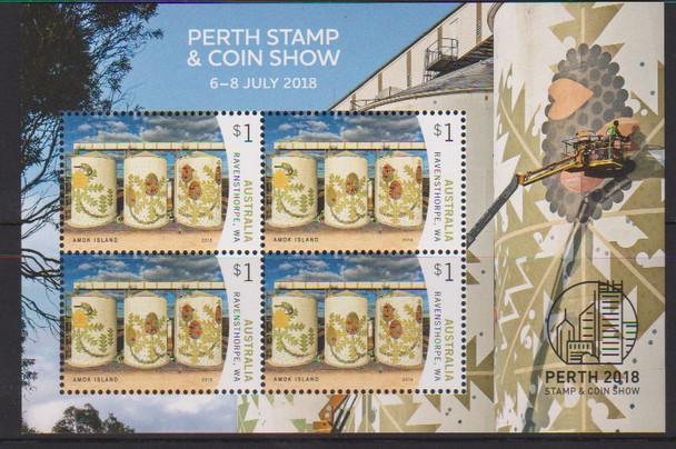 AUSTRALIA (2018)- Perth Stamp & Coin Show Exhibition Sheet