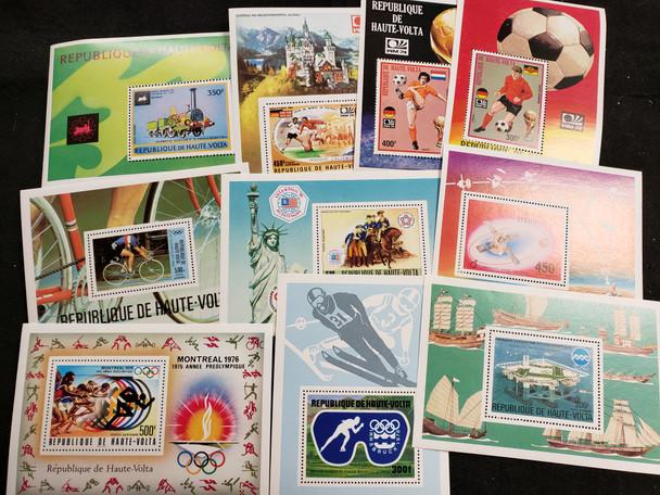BURKINA FASO Souvenir Sheet Lot of 20 , Most Airpost Issues