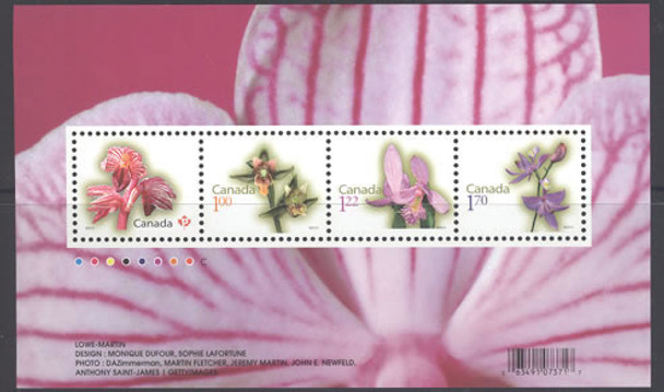 CANADA- Flora Definitive 2010- souvenir sheet- Sheet of 4