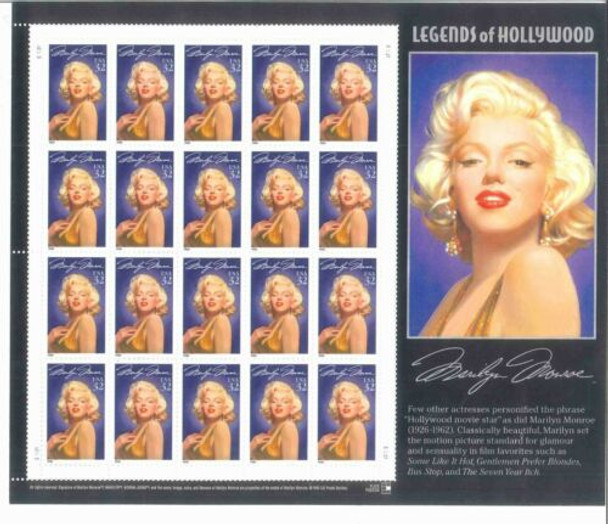 US - 7 LEGENDS OF HOLLYWOOD SHEETS/ENTERTAINERS- BELOW FACE VALUE!