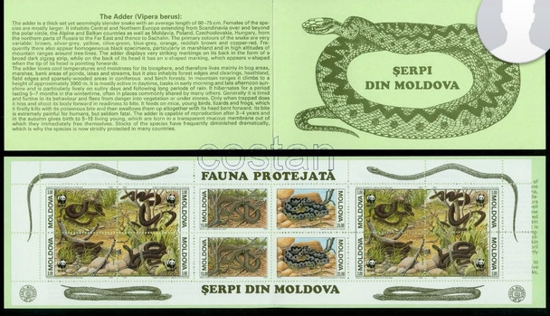 MOLDOVA (1993) WWF  Snake Booklet