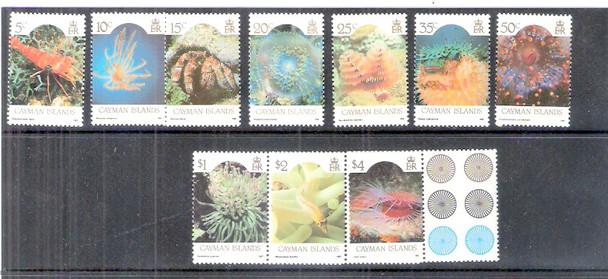 CAYMAN ISLANDS (1986)- Marine Life Definitives (10 values)-