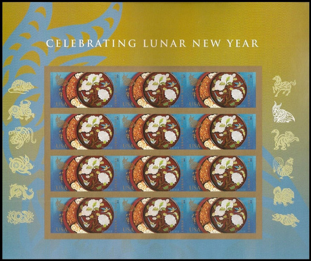 DISCOUNT LOT- 7 LUNAR NEW YEAR MINT SHEETS- FV>$46!