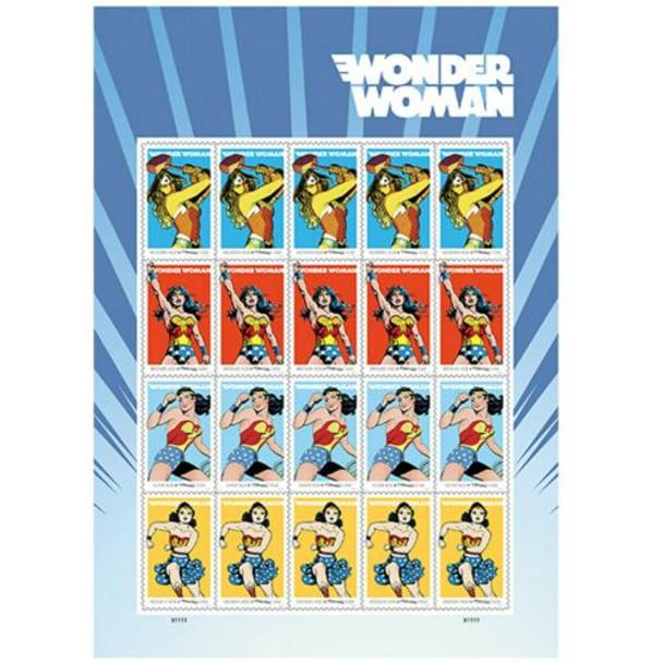 US (2016)- Wonder Woman Sheet of 20 (Scott  5149-52)
