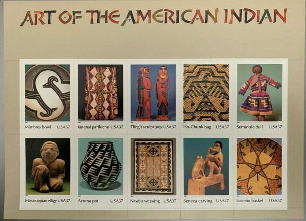 US (2004) - Art of American Indian Sheet of 10 - #3873