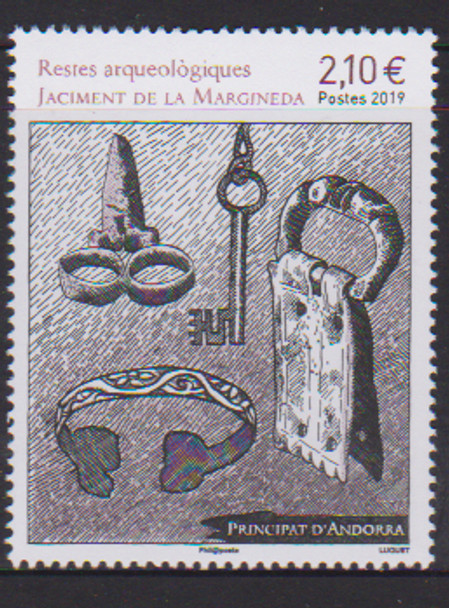 FR. ANDORRA (2019)- ARCHAEOLOGY (Artifacts)