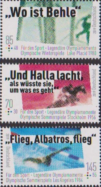 GERMANY (2019)- OLYMPIC GAMES (semi-postals)- Equestrian, Swimming, etc.