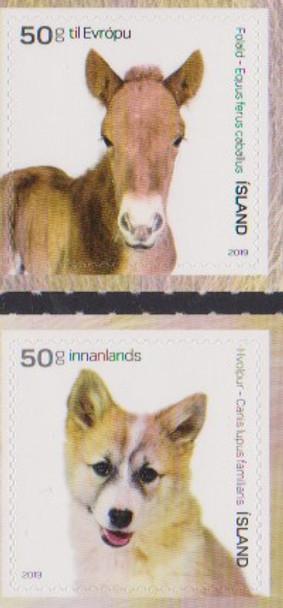 ICELAND (2019)- DOMESTIC ANIMALS- DOG & HORSE (2v)