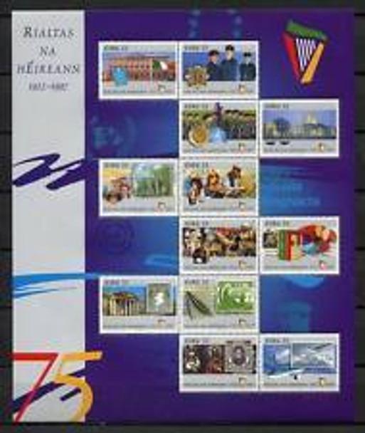 IRELAND (1997) Rialtas Na Heireann Sports Military Sheet (12v)