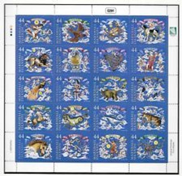 MARSHALL ISLANDS (2009) Constellations, Zodiac Sheet