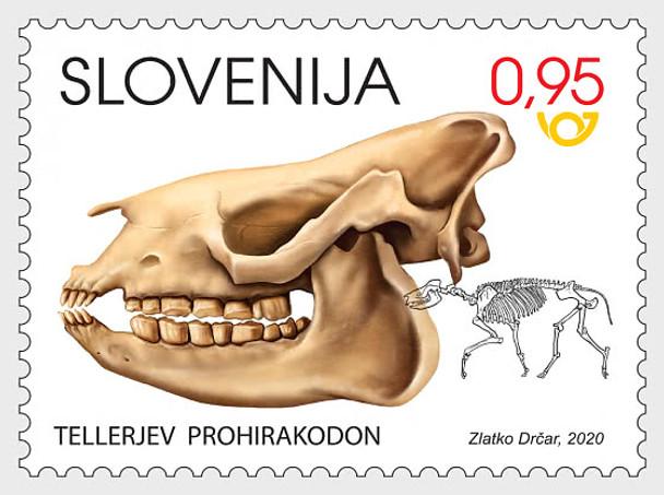 SLOVENIA (2020)- DINOSAUR FOSSIL