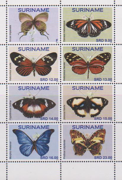 SURINAM (2020)- BUTTERFLIES (8v)