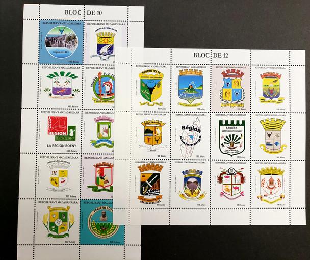MALAGASY (2020) Regional Emblems Sheet Set