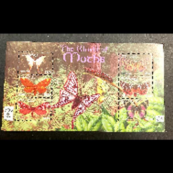GRENADINES Petite Martinique (2002) World Of Moths Sheet LAST one