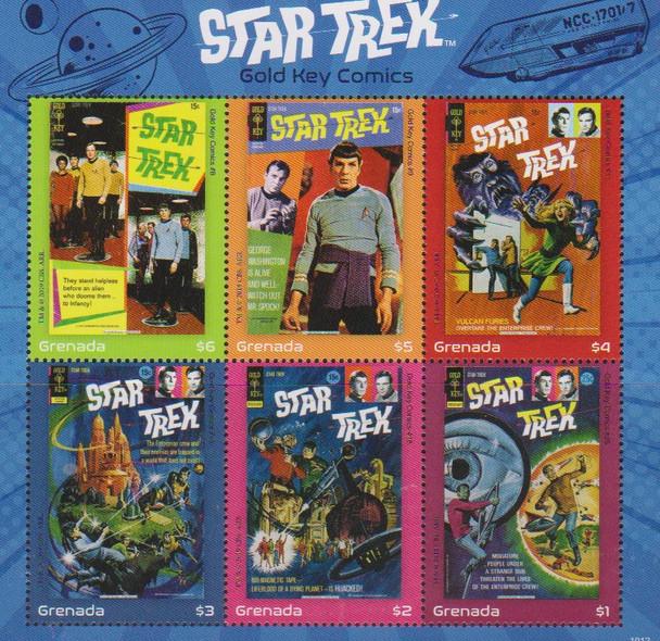 GRENADA (2020)- Star Trek Sheet of 6v