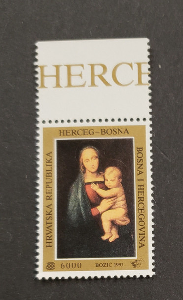 BOSNIA CROAT (1993) Christmas Madonna Art (1v)