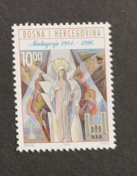 BOSNIA CROATIA (1996) Religious Statue , Cross (1v)