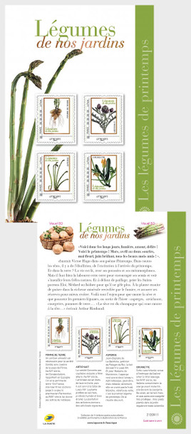 FRANCE (2020)- Fruits & Vegetables of the Spring Garden- 2 Large Collector Sheets- 8 stamps