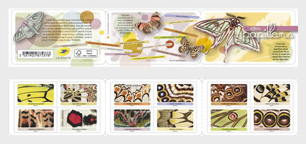 FRANCE (2020)- BUTTERFLY BOOKLET OF 12v