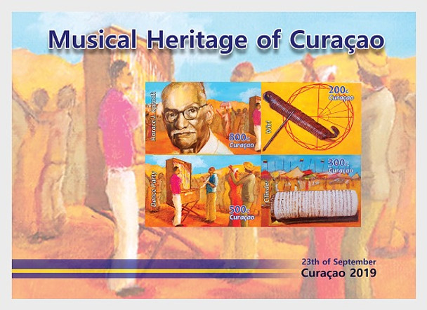 CURACAO- MUSIC BOX SHEET OF 4v