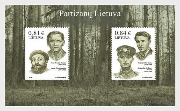 LITHUANIA  (2020)- WWII PARTISANS SHEET