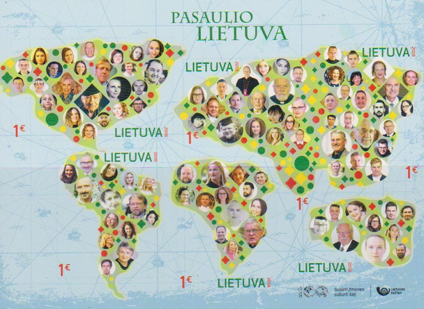 LITUANIA  (2018)-LITHUANIA IN THE WORLD SHEET
