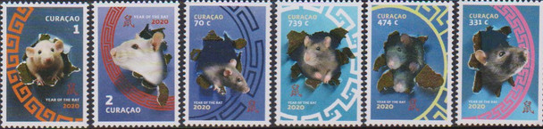 CURACAO (2020)- YEAR OF RAT (6v)