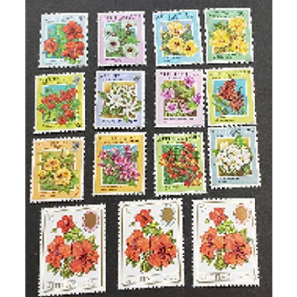 AITUTAKI (1997 Flora, Flower (15v)