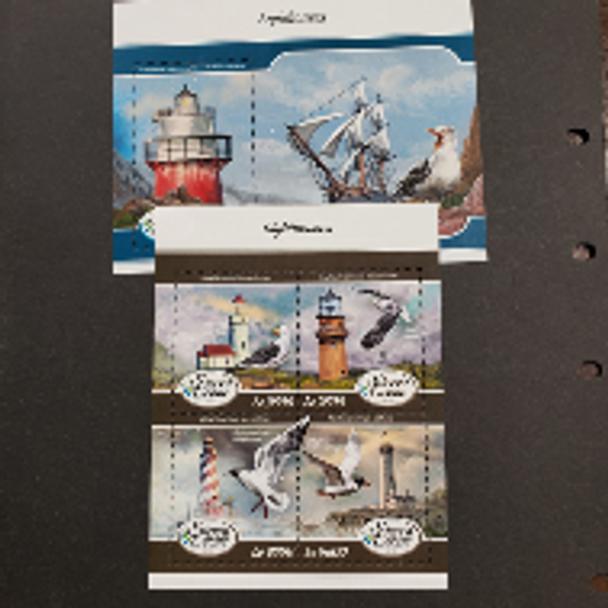 SIERRA LEONE (2020) Lighthouses and Seabirds Sheet Set LAST ONE St