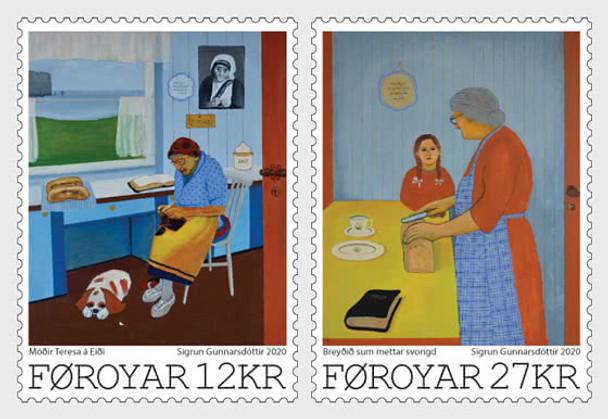 FAROE ISLANDS- Art - Sigrun Gunnarsdottir - Set Mint (2v)