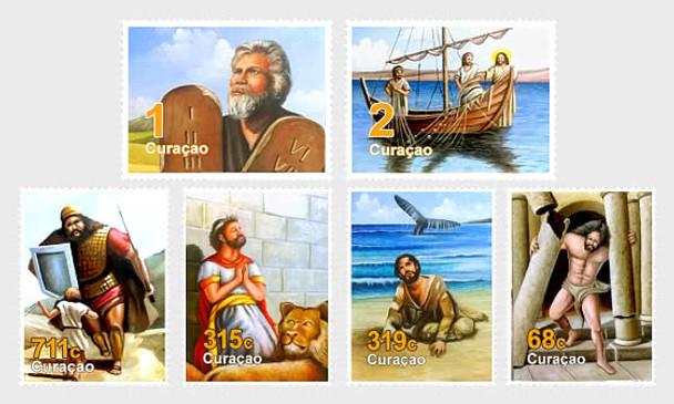 CURACAO - (2020)- BIBLICAL FIGURES (6V)