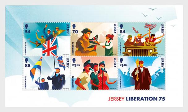 JERSEY (2020)- WWII LIBERATION (6v & Sheet)