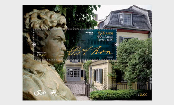 PORTUGAL  (2020)- Ludwig Van Beethoven's 250th Anniversary - Miniature Sheet