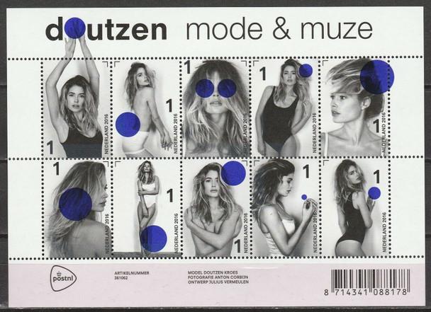 NETHERLANDS (2016)- MODEL DOUTZEN KROES SHEET OF 10 PHOTOS