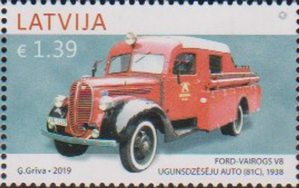 LATVIA (2019)- HISTORIC AUTOS - Ford Fire Truck