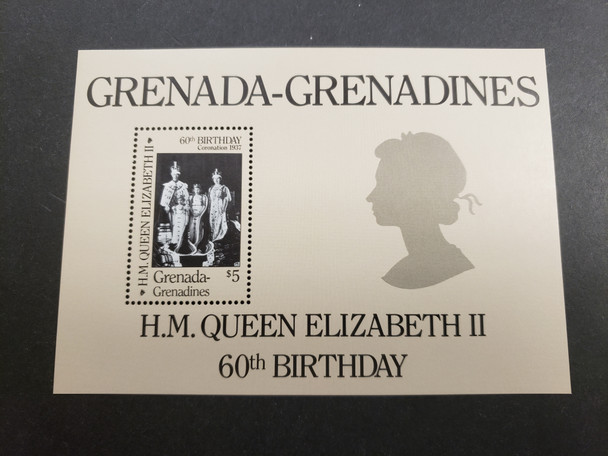 GRENADA GRENADINES (1986) QEII  60th Birthday SS