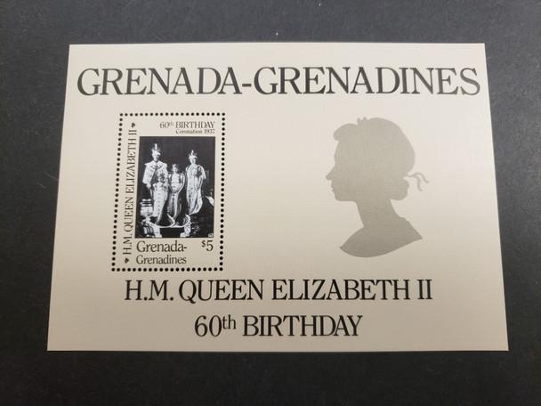 GRENADA GRENADINES (1986) QEII  60th Birthday SS
