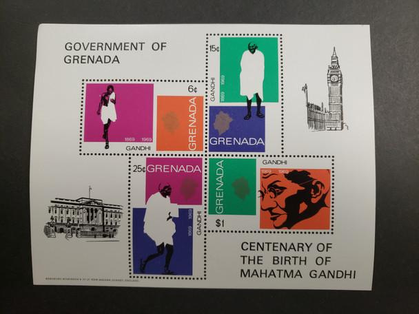 GRENADA CENTENARY of Ghandi Birth Sheet