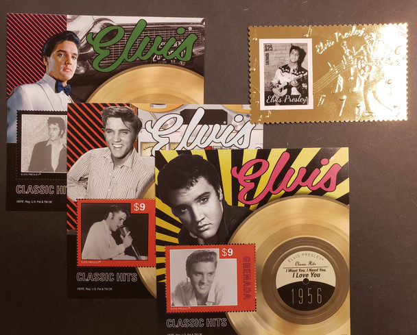 GRENADA (2014) ELVIS PRESLEY SS SET PLUS Gold Foil Single  LAST ONES