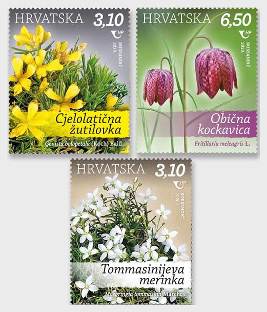 CROATIA (2020)- PROTECTED PLANT SPECIES (3V)