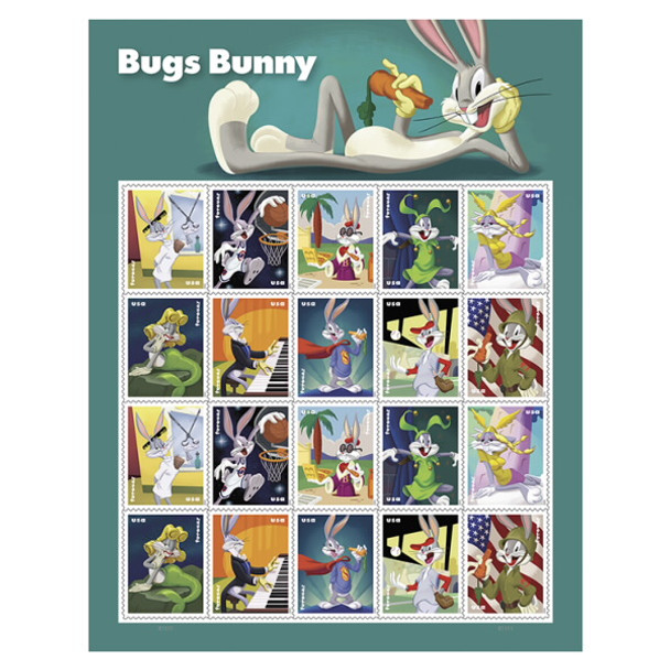 Bugs Bunny Stamps  - Sheet of 20v - US (2020)